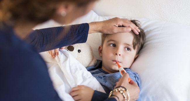 Otrok z gripo